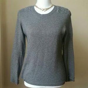 Akris Punto wool & cashmere gray sweater sz 8